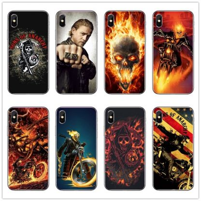 Coque silicone Iphone Sons of Anarchy X
