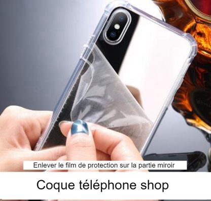 coque iphone xr silicone miroir
